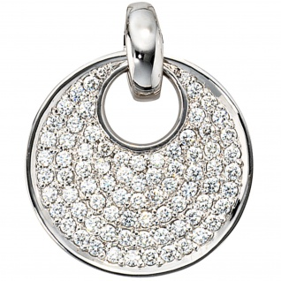 Anhänger rund 585 Gold Weißgold 78 Diamanten Brillanten 1, 45ct. Goldanhänger