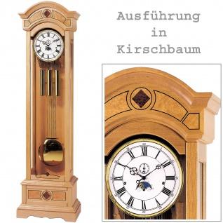 AMS 2240/9 Standuhr mit Pendel mechanisch Holz kirschbaum farben Pendeluhr groß