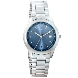 JOBO Herren Armbanduhr Quarz Analog Titan Datum Herrenuhr blau
