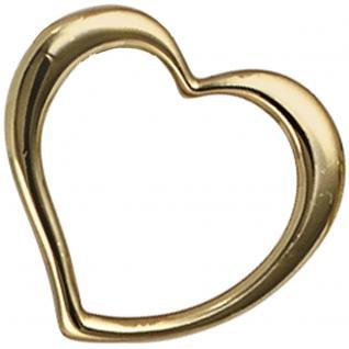 Anhänger Herz Schwingherz 585 Gold Gelbgold Herzanhänger