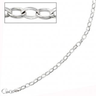 Armband 925 Sterling Silber rhodiniert 21 cm Silberarmband Karabiner