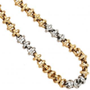 Collier Halskette 585 Gold Gelbgold Weißgold bicolor 43 cm Kette Goldkette