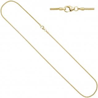 Schlangenkette 585 Gelbgold 1, 4 mm 40 cm Gold Kette Halskette Karabiner