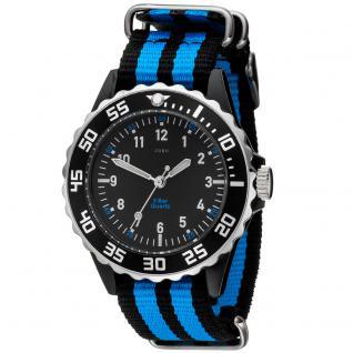 JOBO Kinder Armbanduhr Quarz Analog schwarz blau Kinderuhr