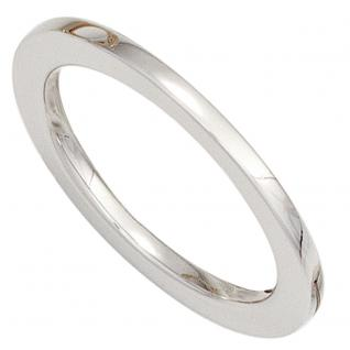 Damen Ring 585 Gold Weißgold Goldring - 54