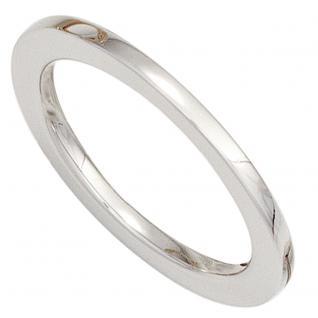 Damen Ring 585 Gold Weißgold Goldring - 58