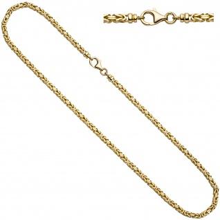 Königskette 333 Gelbgold 42 cm Gold Kette Halskette Goldkette Karabiner