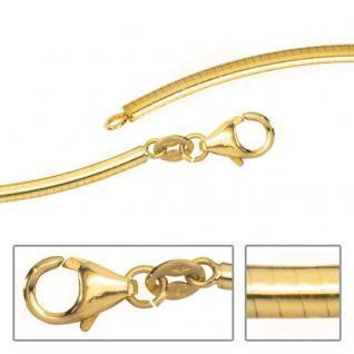 Halsreif 585 Gold Gelbgold 2, 3 mm 45 cm Halskette Kette Goldkette Karabiner