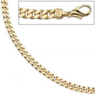 Panzerkette 585 Gelbgold massiv 6 mm 60 cm Gold Kette Halskette Goldkette