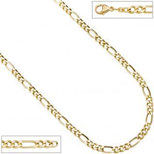 Figarokette 585 Gelbgold 5, 9 mm 50 cm Gold Kette Halskette Goldkette Karabiner