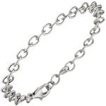 Rundankerarmband 925 Sterling Silber 19 cm Armband Silberarmband Ankerarmband