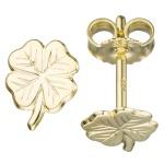 Kinder Ohrstecker Kleeblatt 333 Gold Gelbgold Ohrringe Kinderohrringe