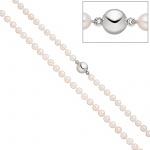 Perlenkette mit Akoya Perlen 45 cm Magnet-Schließe aus 925 Sterlingsilber
