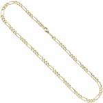 Figarokette 333 Gelbgold 2, 8 mm 42 cm Gold Kette Halskette Goldkette Karabiner