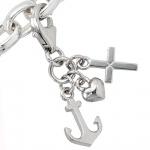 Einhänger Charm Glaube Liebe Hoffnung 925 Sterling Silber rhodiniert