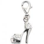 Einhänger Charm High Heel 925 Sterling Silber rhodiniert SWAROVSKI® ELEMENTS