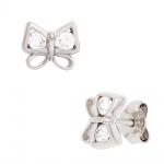 Kinder Ohrstecker Schmetterling 925 Silber 4 Zirkonia Ohrringe Kinderohrringe