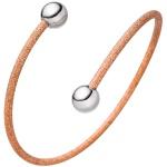 Armspange / offener Armreif 925 Silber bicolor vergoldet Armband