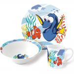 Findet Dorie Kinder Frühstücks-Set 3-teilig aus Keramik Kindergeschirr