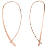 Durchzieh-Ohrhänger 925 Silber rotgold vergoldet Ohrringe zum Durchziehen