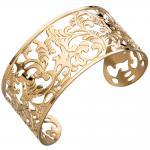 Armspange / offener Armreif aus Edelstahl gold farben beschichtet Armband