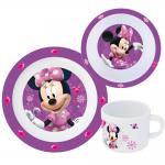 Minnie Mouse Kinder Frühstücks-Set 3-teilig aus Melamin Kindergeschirr