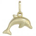 Kinder Anhänger Delfin 333 Gold Gelbgold Kinderanhänger