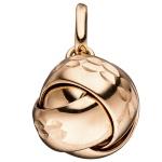 Anhänger Knoten verschlungen 925 Sterling Silber rotgold vergoldet