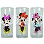 MINNIE MOUSE Kinder Gläser-Set, 3 verschiedene Gläser 290ml im Geschenkkarton