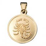 Anhänger Sternzeichen Skorpion 333 Gold Gelbgold matt Sternzeichenanhänger