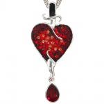 Collier Kette mit Anhänger Herz 925 Silber mit SWAROVSKI® ELEMENTS 47 cm
