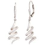 Boutons 925 Sterling Silber mit Zirkonia Ohrringe Ohrhänger Silberohrringe