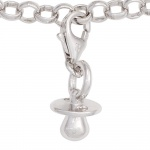 Einhänger Charm Schnuller 925 Sterling Silber rhodiniert