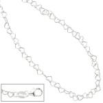 Kinder Collier Halskette aus Herzen Herzchen 925 Sterling Silber 35 cm Kette