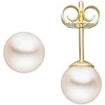 Ohrstecker 585 Gold Gelbgold 2 Akoya Perlen Ohrringe Perlenohrstecker