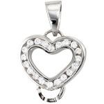 Anhänger Herz Carrier Träger für Charms 925 Sterling Silber 20 Zirkonia