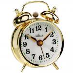Atlanta 1068/9 Mechanischer Wecker Glockenwecker Doppelglockenwecker golden rund