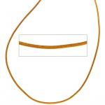 Lederschnur curry ca. 1 m lang Halskette Kette Leder