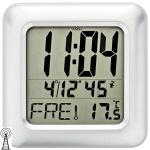AMS 5931 Wanduhr Tischuhr Baduhr Funk digital wasserdicht Datum Thermomer