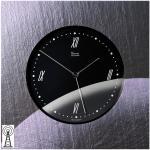Vaerst 2806 Wanduhr Funk Naturschiefer Airbrush Design Mineralglas Motiv Mond