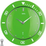 AMS 5942 Wanduhr Funk Funkwanduhr analog grün hellgrün rund modern