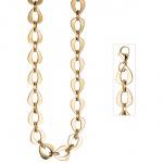 Collier Halskette aus Edelstahl gold farben beschichtet 46 cm Kette