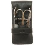 Pfeilring Taschen-Maniküretui, Nappaleder, schwarz, 4-teilige Bestückung