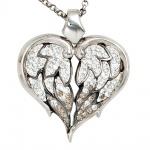 Collier Kette mit Anhänger Herz 925 Silber mit SWAROVSKI® ELEMENTS 50 cm