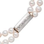 Magnet-Schließe 925 Silber mit Zirkonia Verschluss für 2-reihige Perlenketten