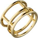 Damen Ring breit mehrreihig 925 Sterling Silber gold vergoldet