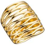 Damen Ring breit 925 Sterling Silber gold vergoldet Silberring