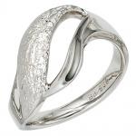 Damen Ring 925 Sterling Silber rhodiniert gehämmert Silberring