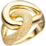 Damen Ring 925 Sterling Silber gold vergoldet mit Struktur Silberring