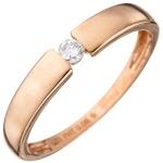 Damen Ring 585 Gold Rotgold 1 Diamant Brillant 0, 08ct. Rotgoldring Diamantring